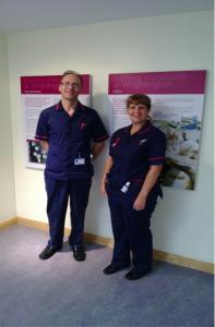 Sean Jackson, Specialist Services Matron and Anita Baker, Quality and Safety Matron Wrightington, Wigan and Leigh NHS Foundation Hospital Trust