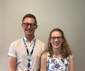 Award winners, Dr Rachel Pilling and Daniel Wadsworth