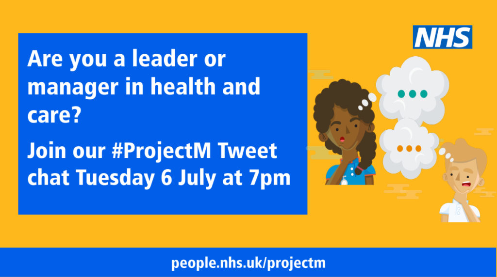 Join us on Tuesday 6 July at 7pm for our next #ProjectM Tweet chat.